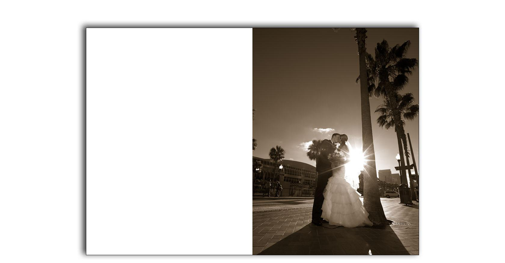 San Diego hard rock wedding photo album  01
