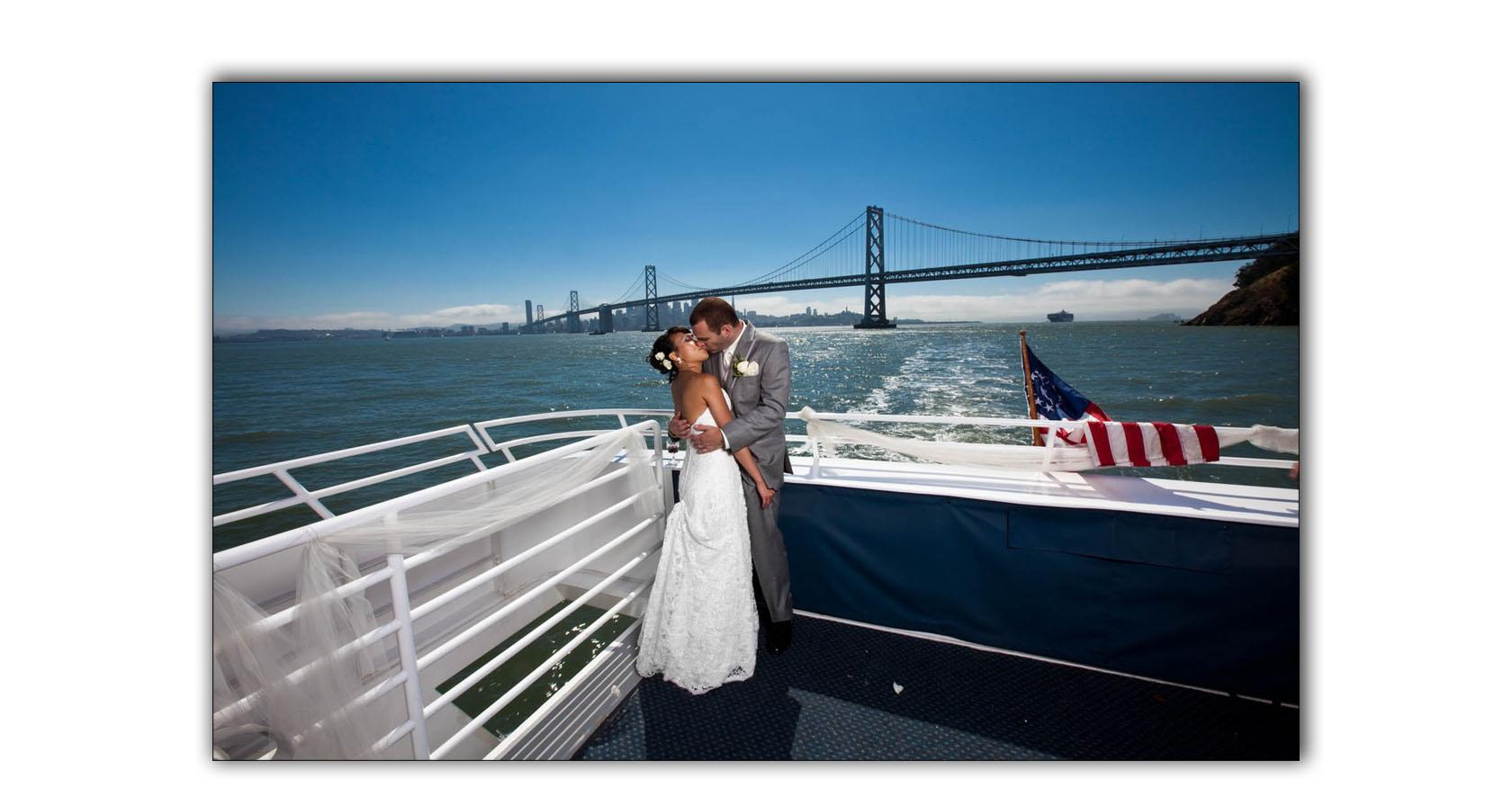 San Francisco Bay yacht boat wedding cruise Commodore Events Merlot