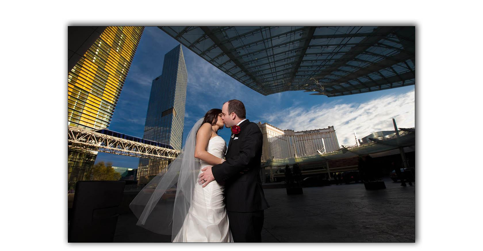 CityCenter City Center Las Vegas wedding photo shoot