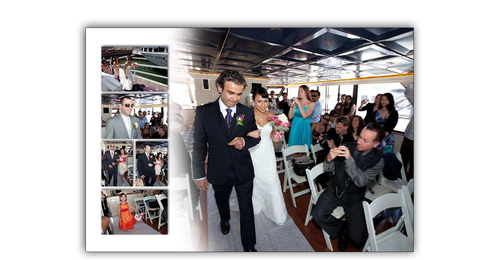 San Francisco Bay yacht boat wedding cruise Commodore Events Merlot photography album 05