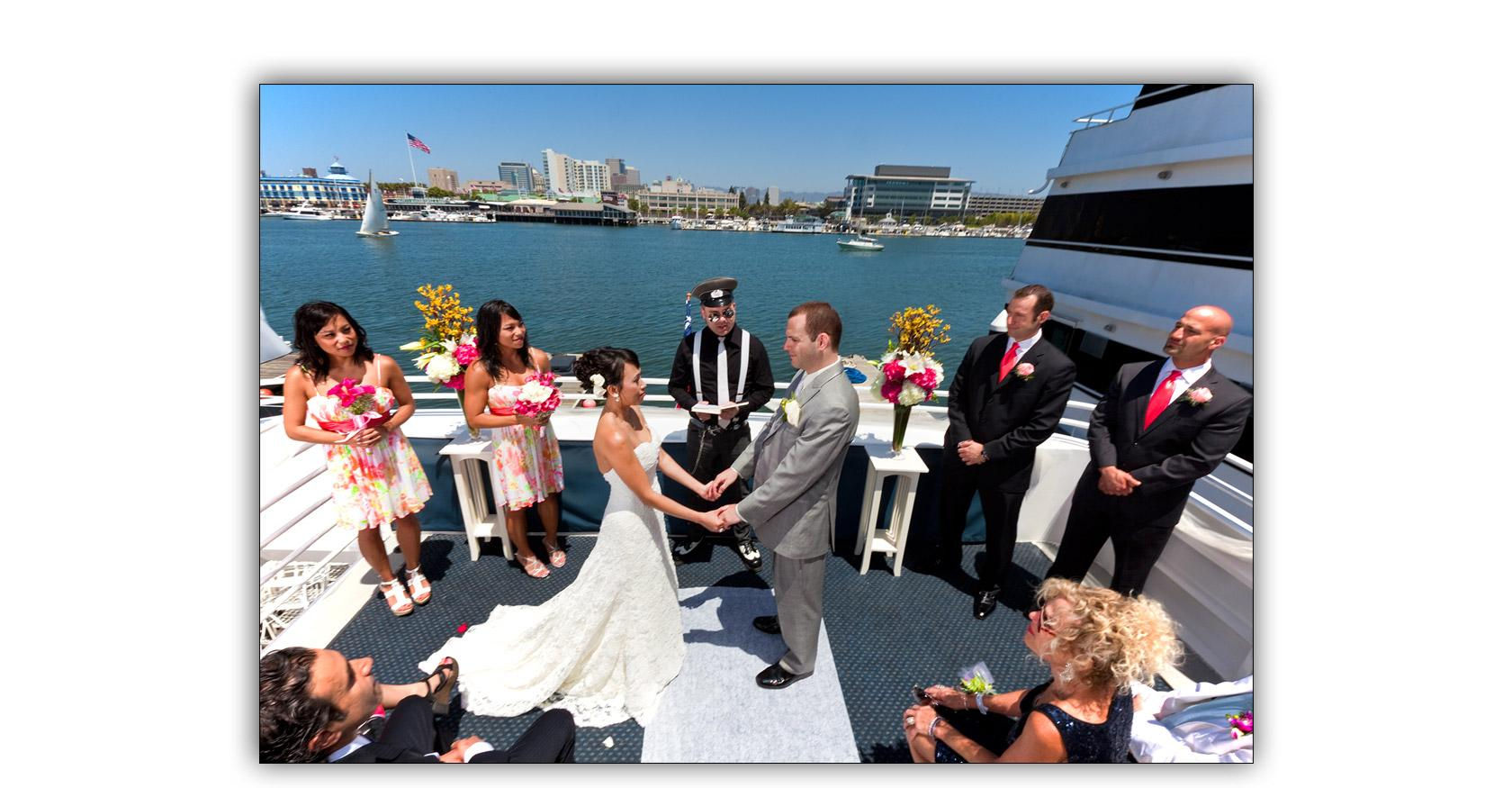 San Francisco Bay yacht boat wedding cruise Commodore Events Merlot photography album 06