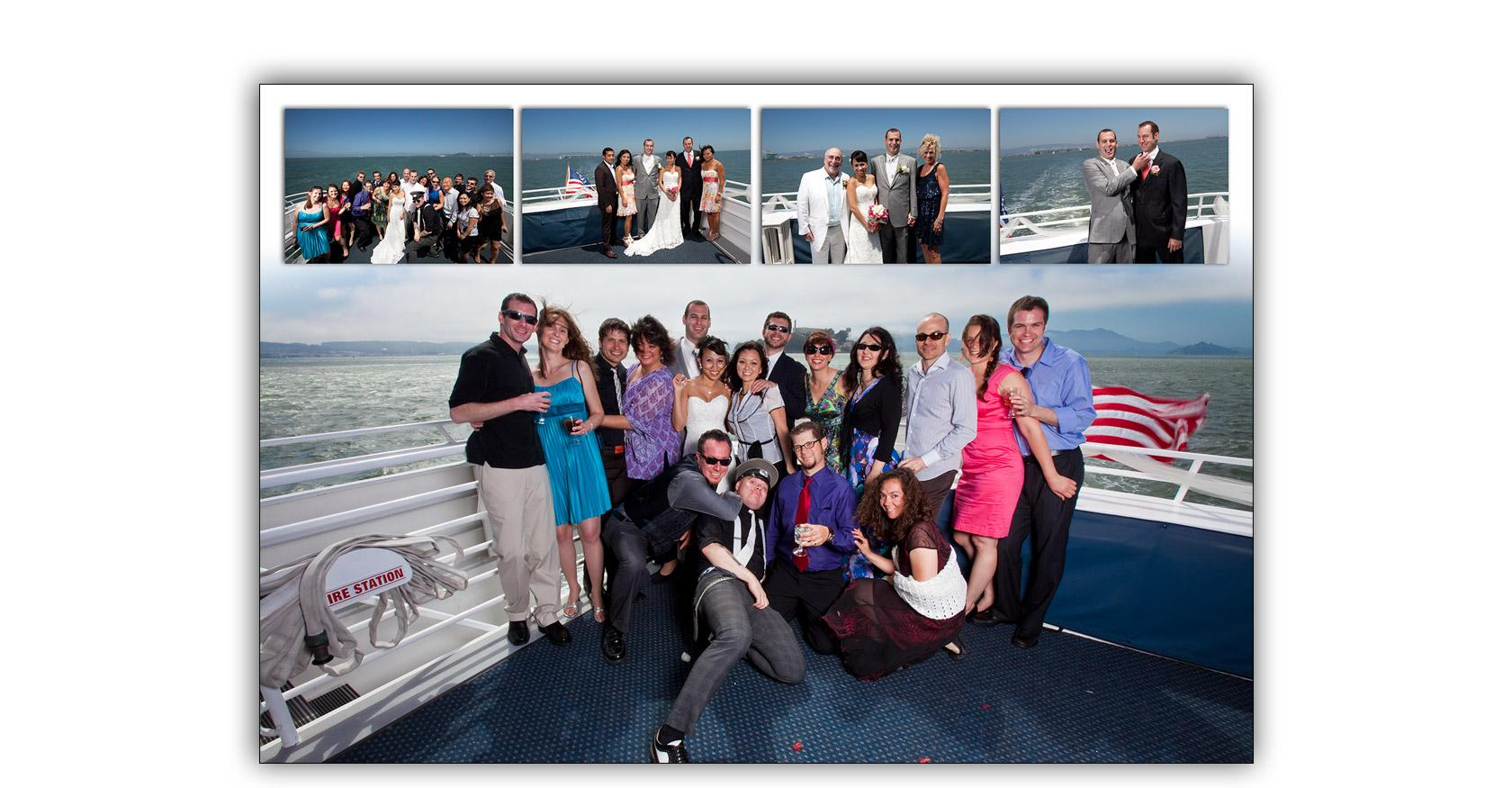 San Francisco Bay yacht boat wedding cruise Commodore Events Merlot photography album 08