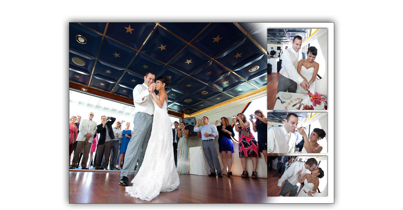 San Francisco Bay yacht boat wedding cruise Commodore Events Merlot photography album 10