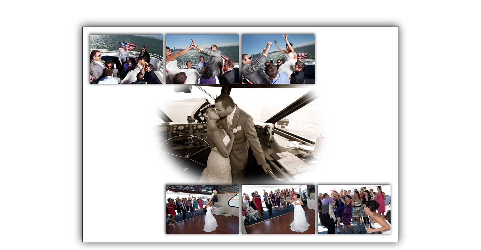 San Francisco Bay yacht boat wedding cruise Commodore Events Merlot photography album 11