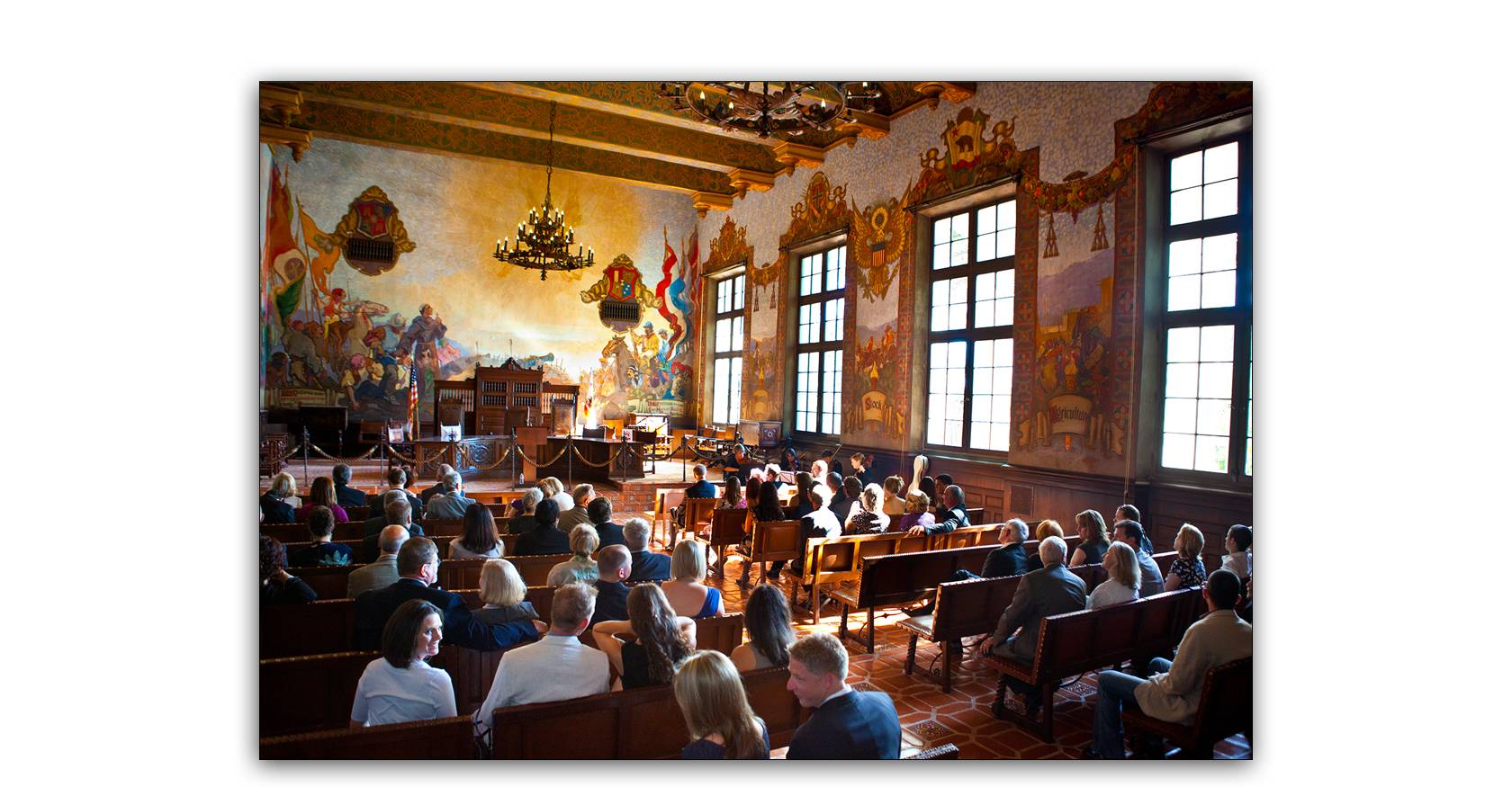 Santa barbara courthouse wedding mural room cabrillo for Mural room santa barbara courthouse
